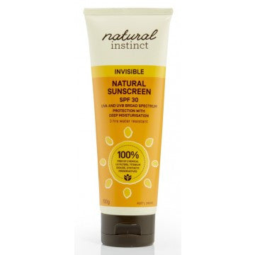 Natural Instinct Invisible Natural Sunscreen 100g