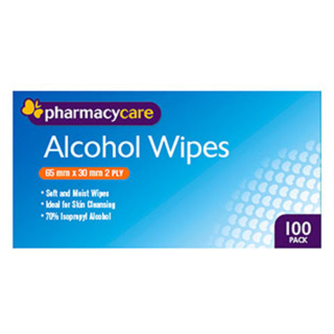 Pharmacy Care Alcohol Wipes 100 Pack