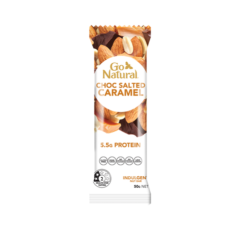 Go Natural Choc Salted Caramel Bar 50g