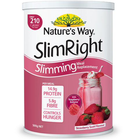 Nature's Way Slim Right Slimming Meal Replacement Strawberry 500g