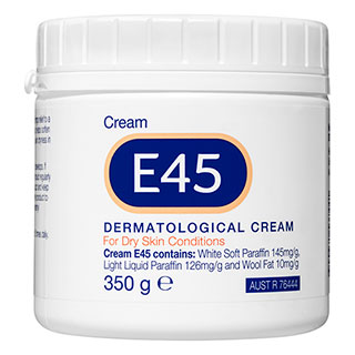 E45 Moisturising Cream for Dry Skin & Eczema - 350g