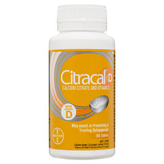 Citracal +D Calcium Citrate and Vitamin D 100 Tablets