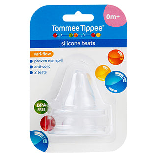 Tommee Tippee Wide Neck Variable Flow Teat - 2 Pack