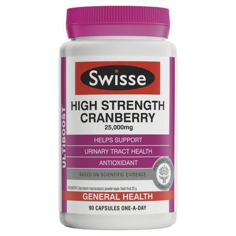 Swisse Ultiboost High Strength Cranberry 25,000mg 90 Capsules
