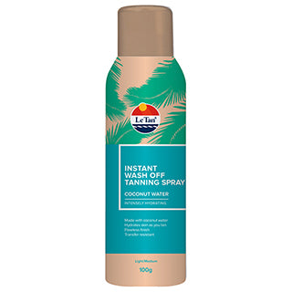 Le Tan Instant Wash Off Spray Coconut Water 100g