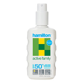 Hamilton Active Family Spray SPF50 - 200mL