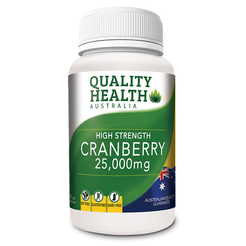 Quality Health High Strength Cranberry 25000mg 60 Caps