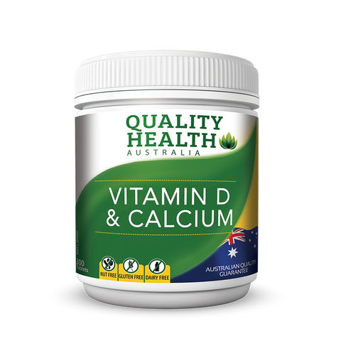Quality Health Vitamin D & Calcium 300 Tablets
