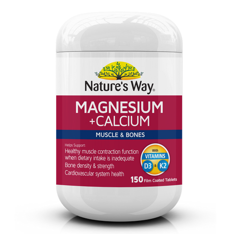 Nature's Way Magnesium Plus Calcium 150 Tablets