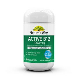 Nature's Way Active B12 Chewable 60 Tablets
