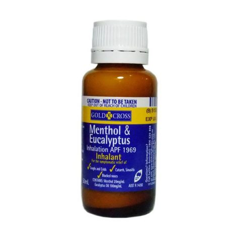 Gold Cross Menthol and Eucalyptus Inhalant 50ml