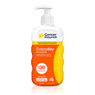 Cancer Council Everyday Sunscreen SPF 30 Plus - 200mL