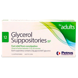 Glycerol Suppositories Adult Petrus 12