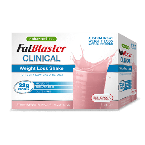 NATUROPATHICA FATBLASTER CLINICAL STRAWBERRY SHAKE 18X53G
