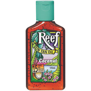 Reef Dark Sun Tan Oil SPF 15+ Coconut - 125mL