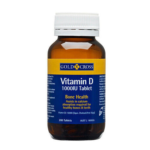 Gold Cross Vitamin D - 200Tab
