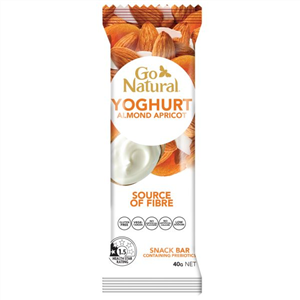 Go Natural Yoghurt Almond Apricot Bar 40g