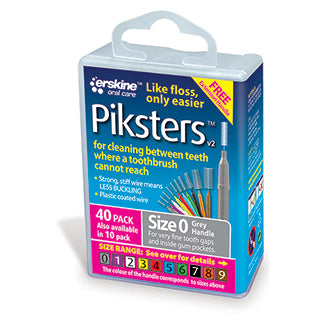 Piksters Interdental Brushes Size 0 - 40 Pack