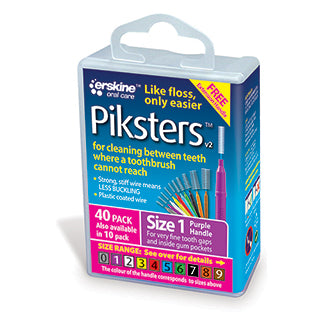 Piksters Interdental Brushes Size 1 - 40 Pack