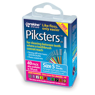 Piksters Interdental Brushes Size 5 - 40 Pack