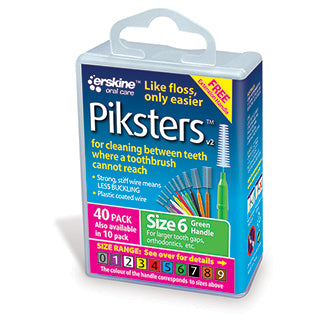 Piksters Interdental Brush Size 6 - 40 Pack