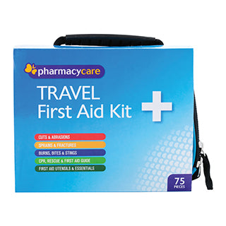 Pharmacy Care First Aid Kit Travel 75 Pieces