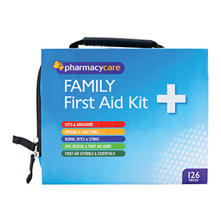 Pharmacy Care First Aid Kit Family 126 Pieces