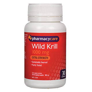 Pharmacy Care Wild Krill 1000mg 30 Capsules
