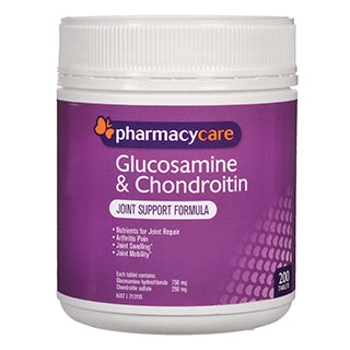 Pharmacy Care Glucosamine & Chondroitin 200 Tablets