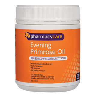 Pharmacy Care Evening Primrose Oil 1000Mg 200 Capsules
