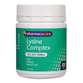 Pharmacy Care Lysine Complex 100 Tablets
