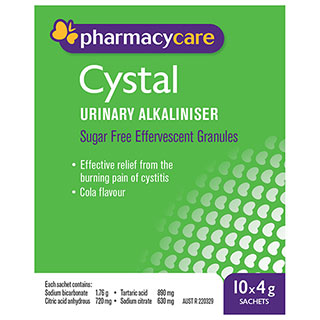 Pharmacy Care Cystal Sachets 4g 10 Pack (Generic for Ural)