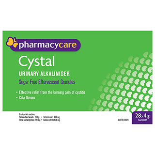 Pharmacy Care Cystal Sachets 4g 28 Pack (Generic for Ural)