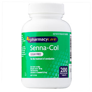 Pharmacy Care Senna-Col Sugar Free 200 Tablets (Generic for COLOXYL WITH SENNA)