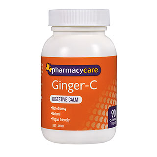 Pharmacy Care Ginger - C Chewable 90 Tablets