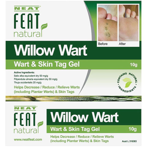 Neat Feat Natural Willow Wart Wart and Skin Tag Gel 10g
