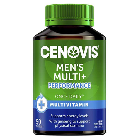 Cenovis Men's Multi + Performance - Once-Daily Multivitamin - 50 Capsules