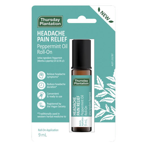 Thursday Plantation Peppermint Headache Pain Relief Roll On 9ml