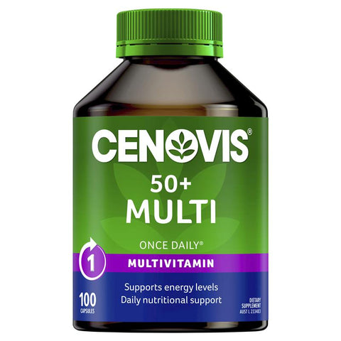 Cenovis 50+ Multi - Once-Daily Multivitamin - 100 Capsules
