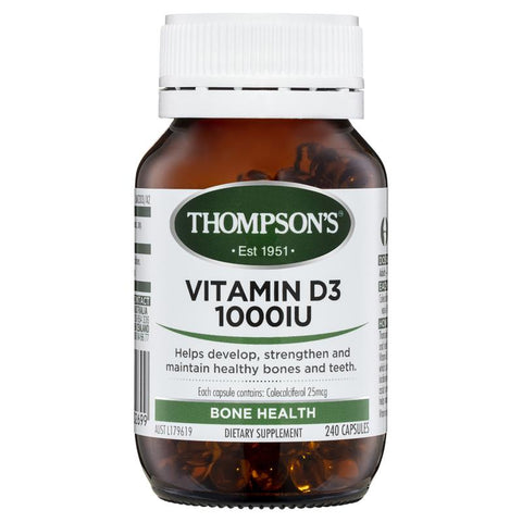 Thompson's Vitamin D3 1000IU 240 Capsules