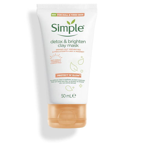 Simple Protect N Glow Detox & Brighten Clay Mask 50ml