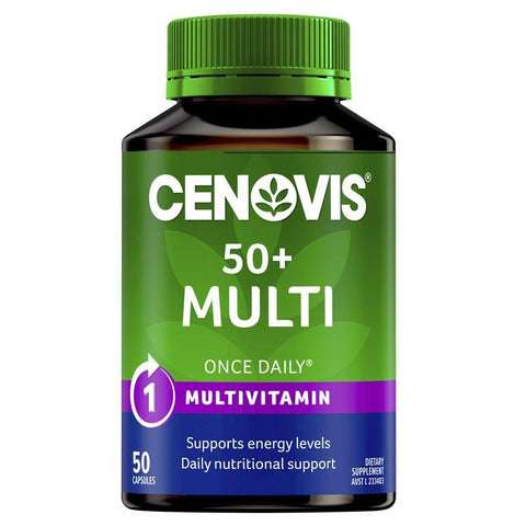 Cenovis 50+ Multi - Once-Daily Multivitamin - 50 Capsules