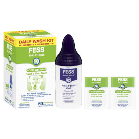 Fess Sinu Cleanse Gentle Cleansing Daily Wash Kit