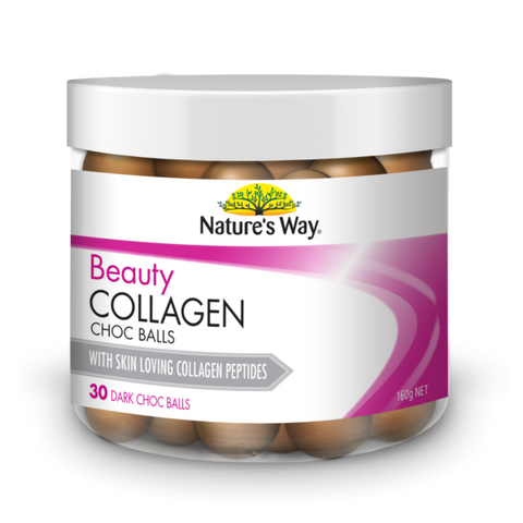 Nature's Way Beauty Collagen 30 Dark Choc Balls
