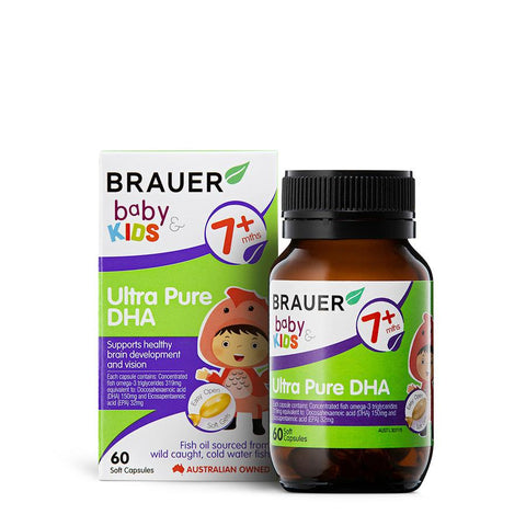 Brauer Baby & Kids Ultra Pure DHA 60Caps