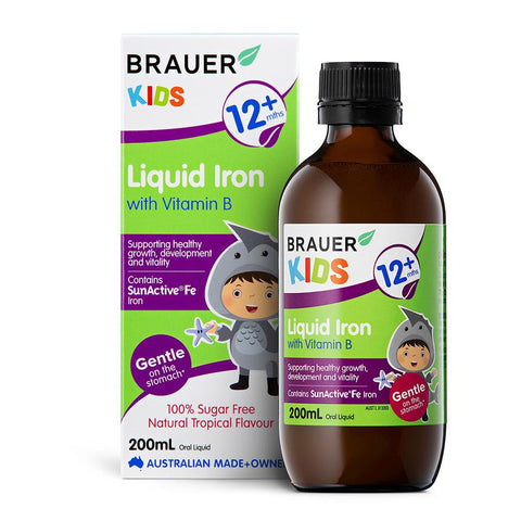 Brauer Kids Liquid Iron with Vitamin B 200ml