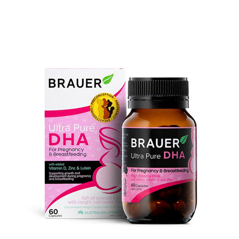 Brauer Ultra Pure DHA for Pregnancy & Breastfeeding 60Caps