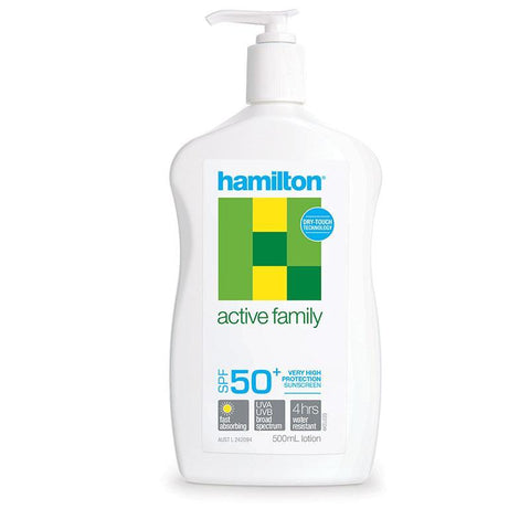 Hamilton Sun SPF 50+ Active Family Lotion 500ml