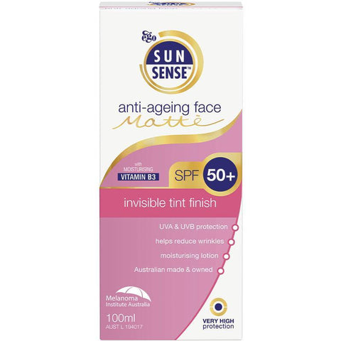 Ego Sunsense Anti-Ageing Face Matte Invisible Tint Finish SPF 50+ 100ml