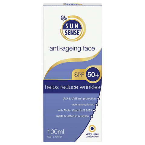 Ego Sunsense Anti-Ageing Face Moisturising Lotion SPF 50+ 100ml